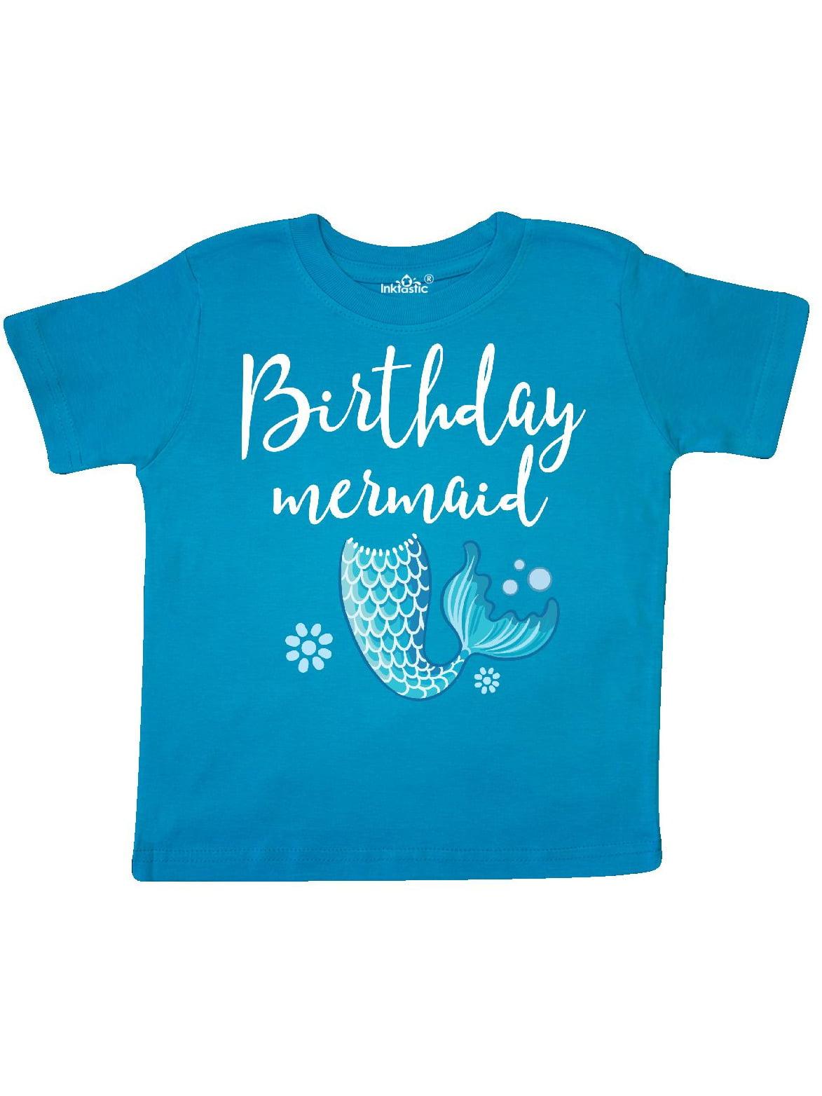 Birthday Mermaid Girls Party Gift Toddler T Shirt