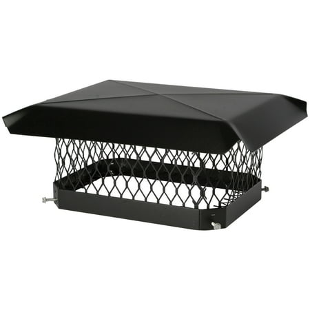 Shelter SC913 Single-Flue Black Galvanized-Steel Chimney Cap (9