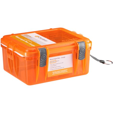 Outdoor Products Large Watertight Case Box, Orange ()