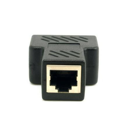 outdoorline 5Pcs/set 2 Way CAT6 RJ45 Coupler In-Line Coupler Ethernet Cable Extender Adapter Connector 8P8C - image 5 of 7