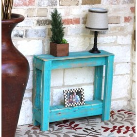 Urban Designs Seaside Squaretop Solid Wood 29 Side And Accent Table Walmart Com Walmart Com