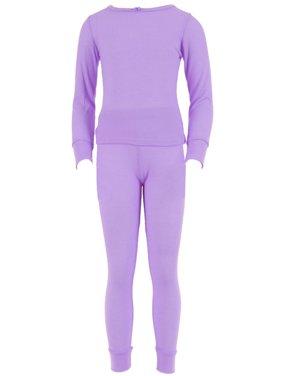 SLM Therma Tek Girl's 100% Cotton Thermal Underwear Two Piece Set