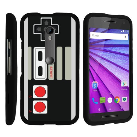 Motorola Moto G 3Rd Gen   Snap Shell  Matte Black  2 Piece Snap On Rubberized Hard Plastic Cell Phone Cover With Cool Designs   Game Controller