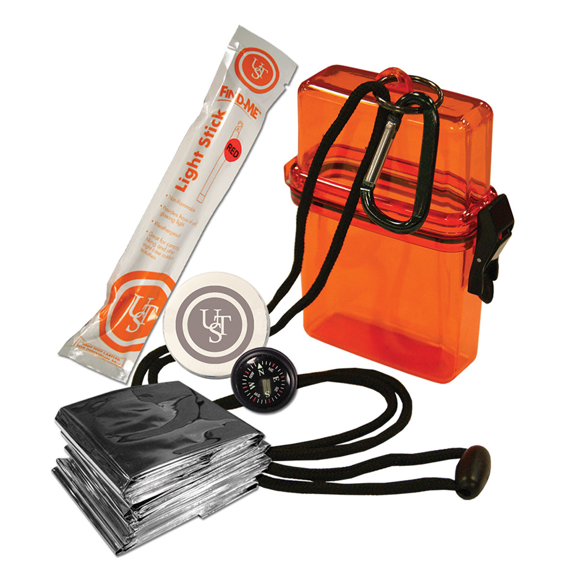 Click here to buy Watertight Survival Kit 1.0, Orange by UST Brands LLC.