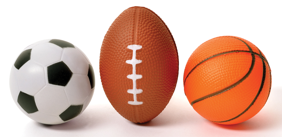 3 Pack Mini Sports Stress Balls Set Football Baseball And Soccer Ball by Perfect Life Ideas