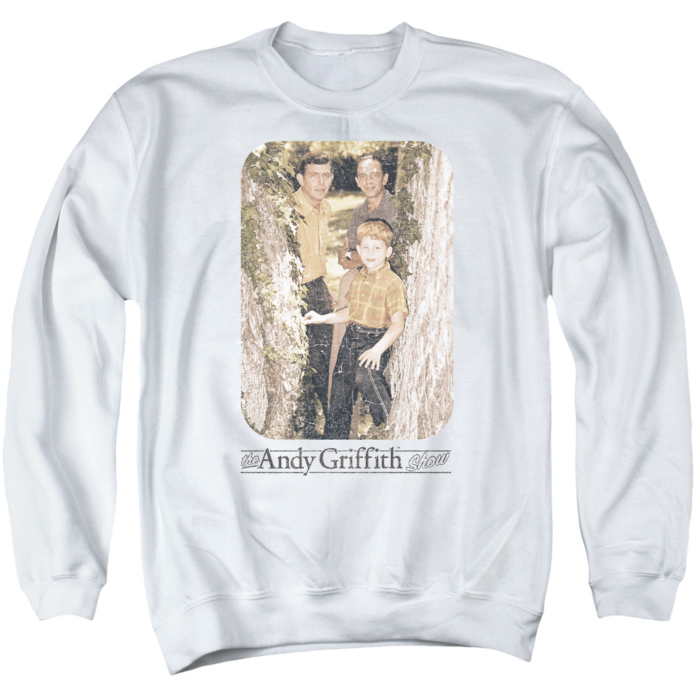 Andy Griffith Tree Photo Mens Crewneck Sweatshirt