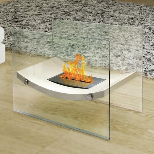 Anywhere Fireplace Broadway Glass Bio-Ethanol Fireplace by Devco LLC