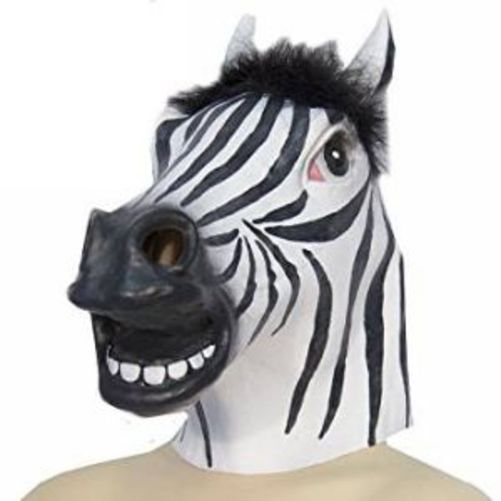 HMS Jumbo Zebra Animal Mask Latex