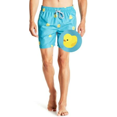 19ee4f74061 Visive - Mens Swim Trunks Board Shorts Bathing Suits Elastic Waist  Drawstring Rubber Duck Medium - Walmart.com