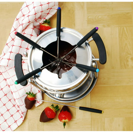Cook Pro 11-Piece Stainless Steel Fondue Set