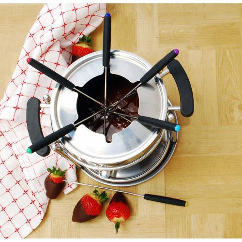 Cook Pro 11-Piece Stainless Steel Fondue Set