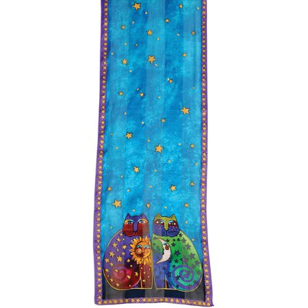 Laurel Burch Scarves-Celestial Felines-LBS184 - image 1 of 1