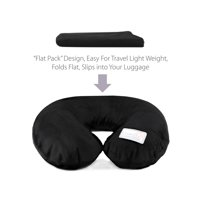 Dream Essentials Travel Flat Pack Neck Pillow -Black
