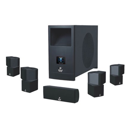 5.1 Home Theater System With Active Subwoofer and Five Satellite Speakers
