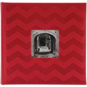 "Embossed 2-Up Photo Album 4""X6"" 200 Pockets-Red Chevron"