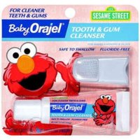 Baby Orajel Gel & Finger Toothbrush Mixed Fruit Tooth & Gum Cleanser .7 Oz Peg