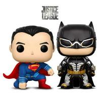 Warp Gadgets Bundle - Funko Pop Movies Dc Justice League - Batman and Superman - Collectible Vinyl Figure (2 Items)