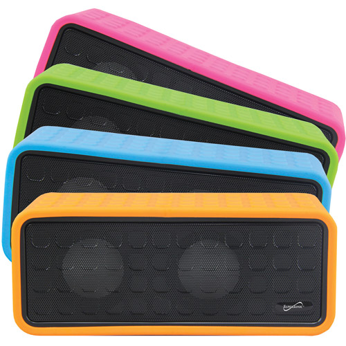 SuperSonic Portable Bluetooth Rechargeable Speaker, Pink