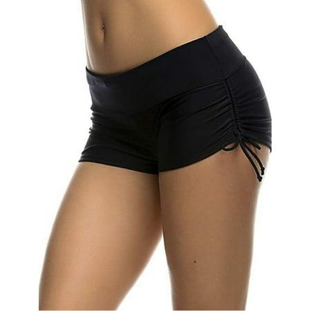 Brief Bottom Womens Swimsuit - Girl Women Summer Plain Swim Short Bikini Swimwear Short Brief Bottoms