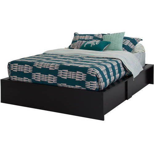 South Shore SoHo Ottoman Queen Storage Bed, Black