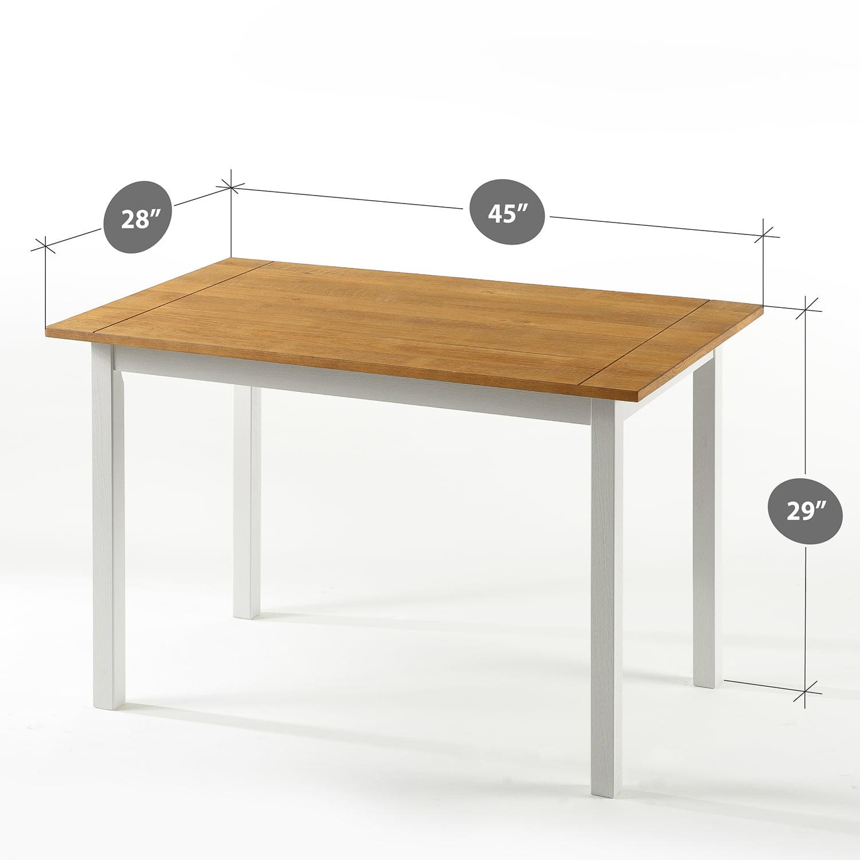 Zinus Becky Farmhouse Wood Dining Table - Walmart.com