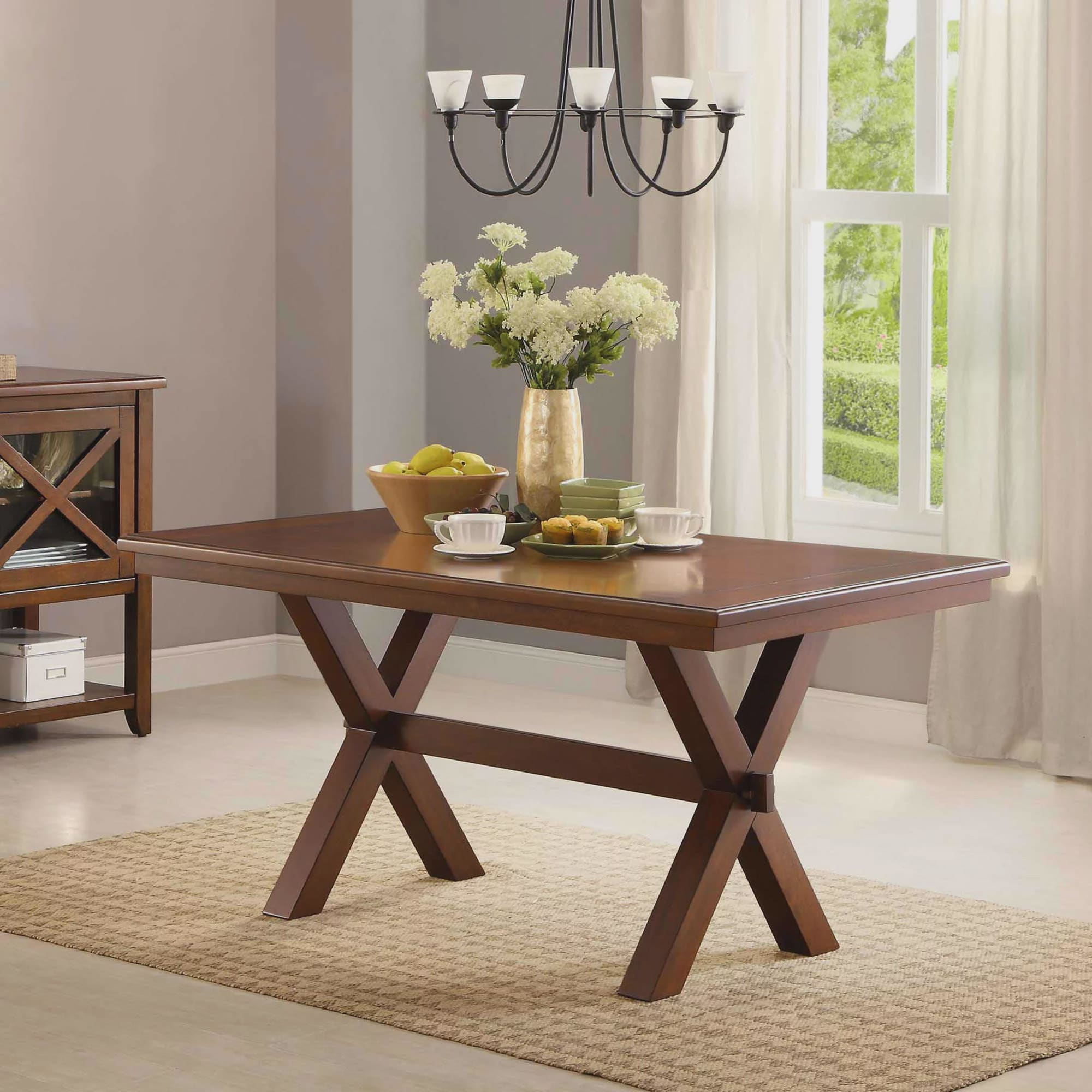 Better Homes Gardens Maddox Crossing Dining Table Walmart Com Walmart Com