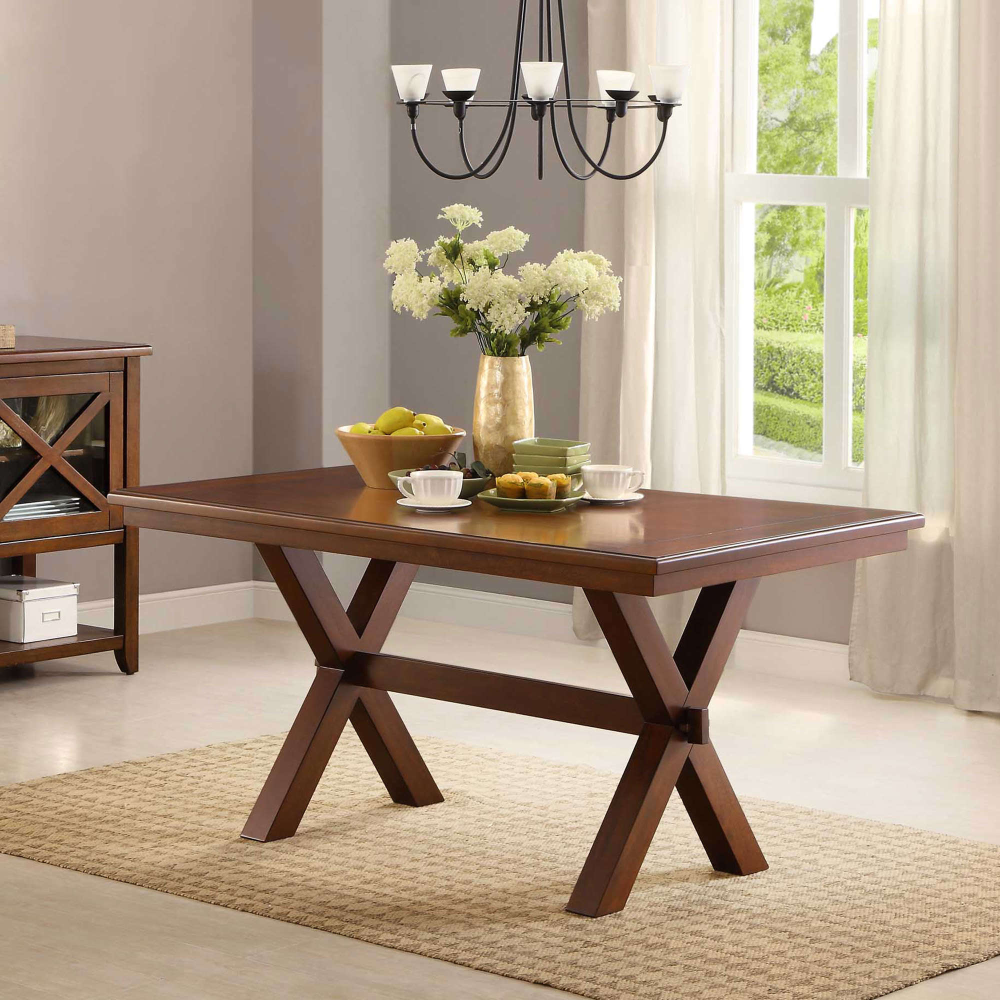 Better Homes and Gardens Maddox Crossing Dining Table, Brown by
