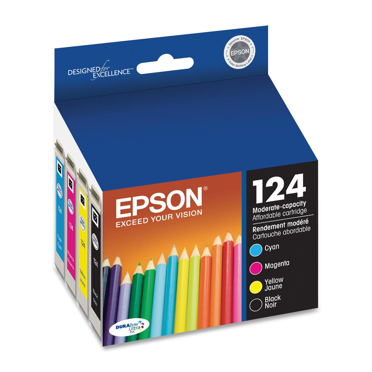 Epson 124 DURABrite Original Black Color Combo Pack Ink Cartridge by Epson