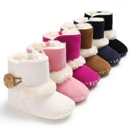 Warm and comfortable Baby children Winter Non-slip Soft soles Plush