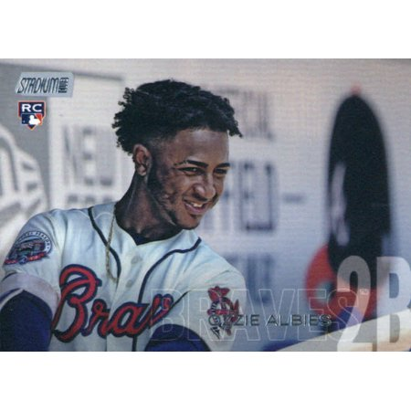 2018 Topps Stadium Club #110 Ozzie Albies Atlanta Braves Rookie Baseball Card - (Atlanta Baseball Stadium)