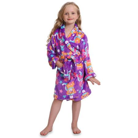 8cf22545eca83 Komar Kids Big Girls' Winter Pup Velvet Fleece Robe | Walmart Canada