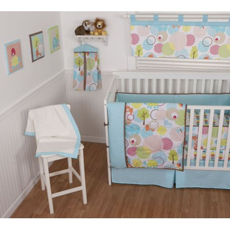 Sumersault Sweet Petite Animals 4 Piece Crib Set by