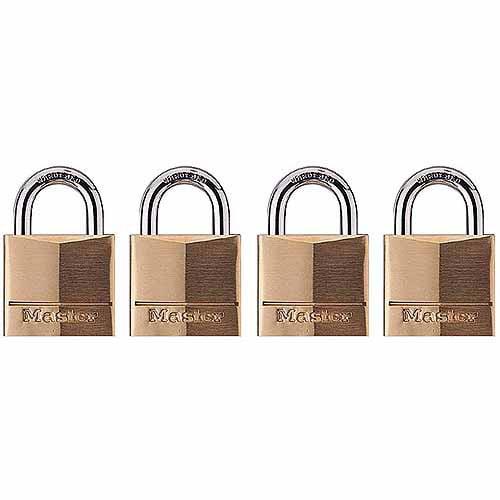 Master Lock 120Q Brass Padlock 4 Pack