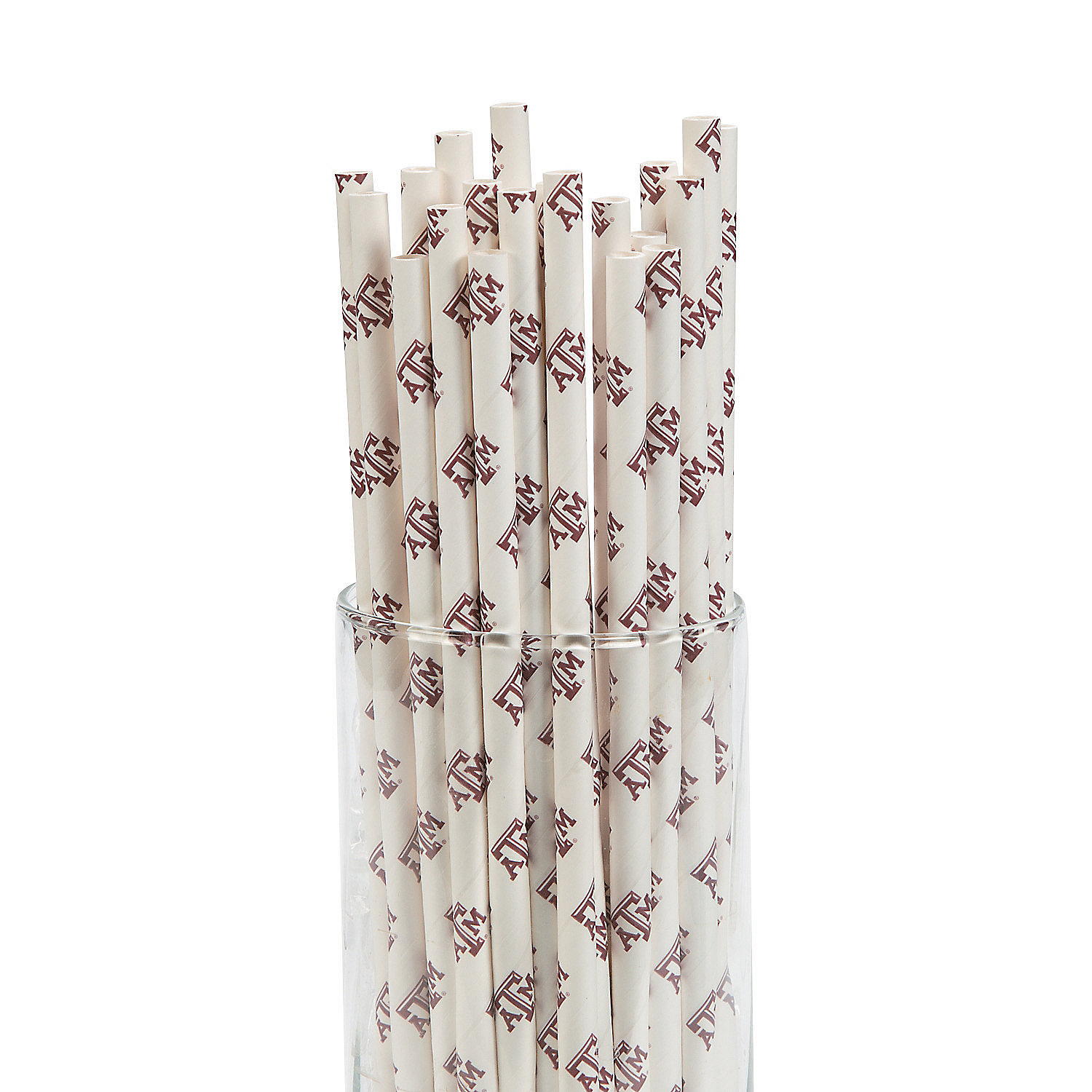 IN-13700708 NCAA Texas A&M Paper Straws 24 Piece(s)