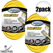 Coleman Cable 01489 100' 14/3 Polar/Solar Extension Cord 2-Pack
