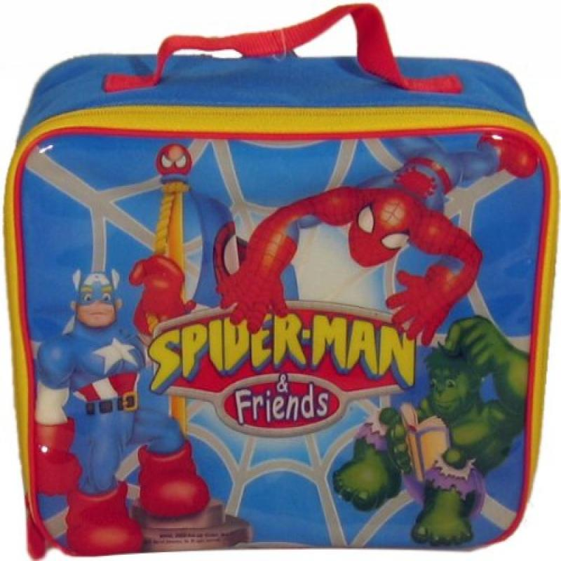 Marvel Heroes Spider-Man and Friends Lunch Bag Box - Spiderman, Hulk & Captain America