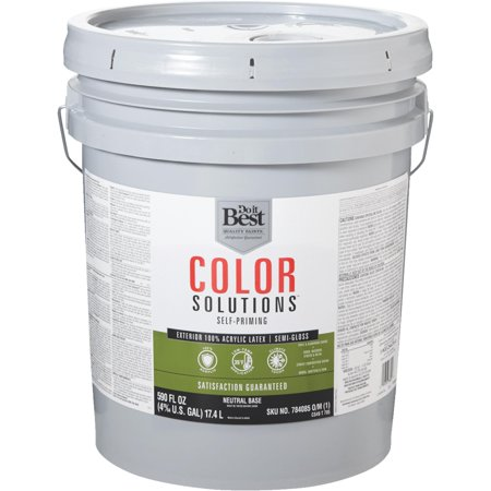Do it best color solutions 100 acrylic latex self priming semi gloss exterior house paint - Acrylic paint exterior plan ...