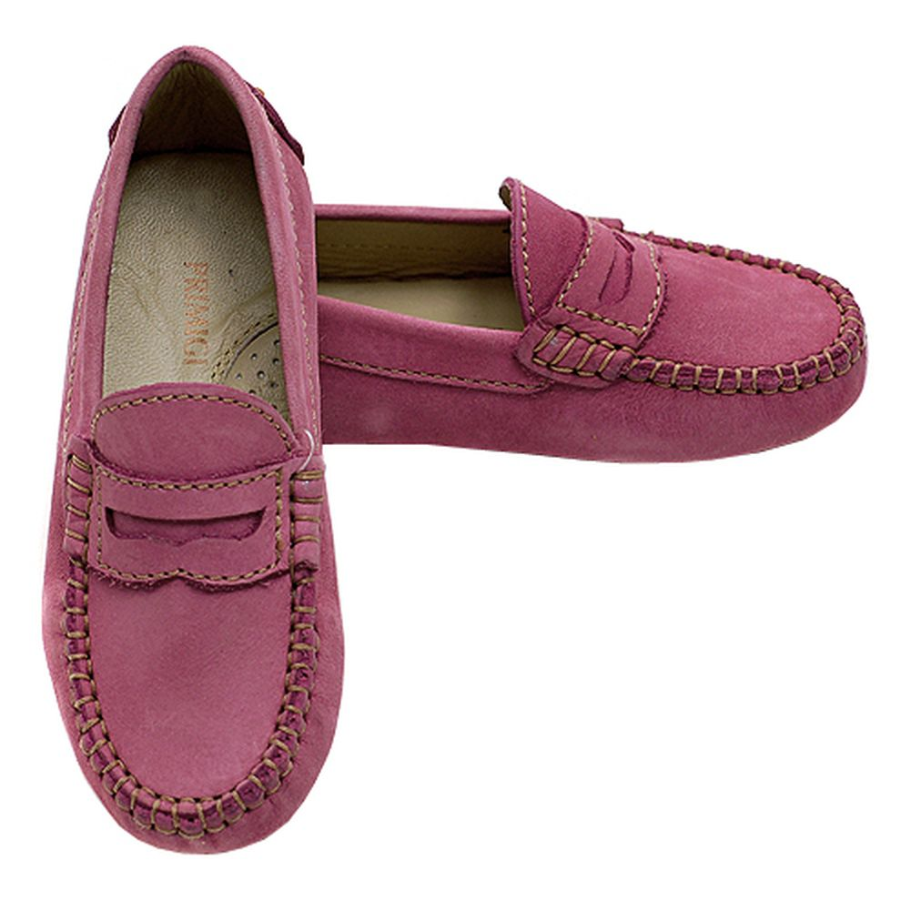 Primigi Pink Contrast Stitch Driving Shoes Girls 3 by Primigi