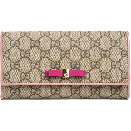 Gucci Beige Brown Signature Leather Wallet Guccissima style Box New #493075 Gucci White Wallet