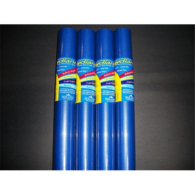 RiteCo Raydiant 80087 Riteco Raydiant Fade Resistant Art Rolls Dark Blue 48 In. X 50 Ft. 4 Pack