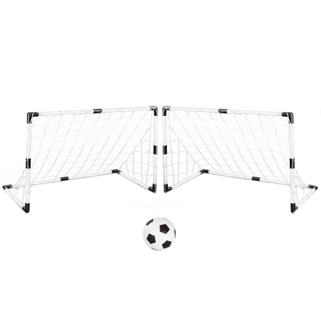 Youth Sports Soccer Goals with Soccer Ball and Pump Practice ScrimMage Game Set of 2 DIY... by