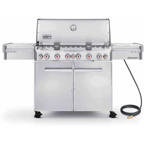 Weber Summit S-670 Natural Gas Grill, Stainless Steel by