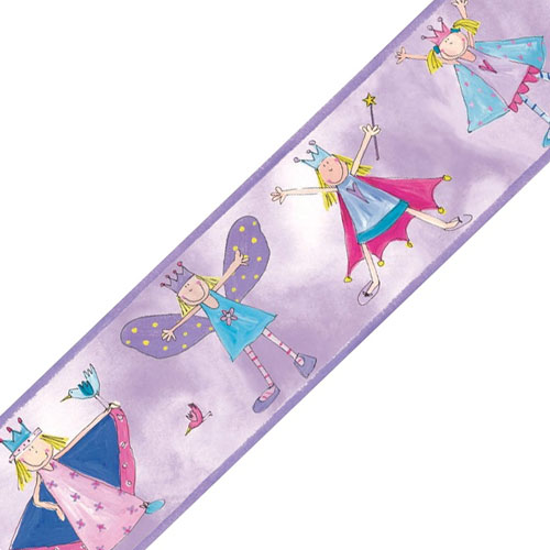 Fairy Princesses Self Stick Wall Border Accent Roll