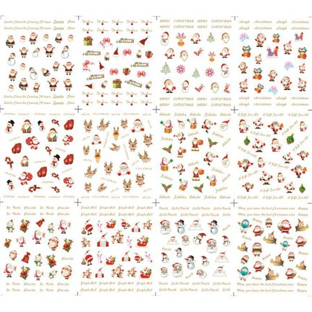 Holiday Clearance Christmas Halloween Nail Sticker Lovely Flower Heart Cartoon Glitter Toe Wraps Decorations Decals - Halloween Toe Nail Ideas