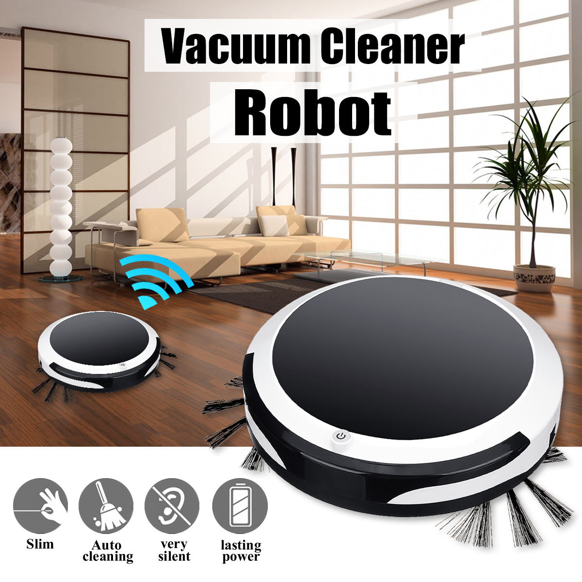 Auto Smart Robot Vacuum Cleaner Cordless Sweep Machine Dry Wet Rechargeable