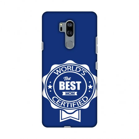 LG G7 Case, LG G7 ThinQ Case, Slim Fit Handcrafted Designer Printed Snap on Hard Shell Case Back Cover - World''S Certified- The Best Mom- Navy