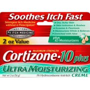 Cortizone 10 Plus Ultra Moisturizing Anti-Itch Creme 2oz, Value Size