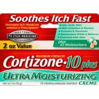 Cortizone 10 Plus Ultra Moisturizing Anti-Itch Creme 2oz, Value Size
