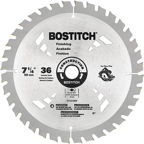 """Bostitch 7 1/4"""" 36T Circular Saw Blade, BSA3136M"""