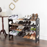 Shoe Rack, Stackable Storage Bench  Closet, Bathroom, Kitchen, Entry Organizer, 4 Or 6-Tier Space Saver Shoe Rack by Everyday Home
